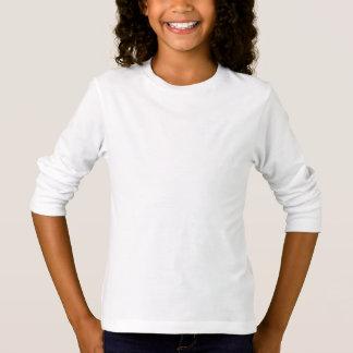 スタイル: 女の子の基本的な長袖のTシャツは長く行きます。 Tシャツ
