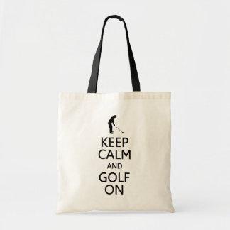 スタイル、色を選ぶためにバッグの平静及びゴルフを-保って下さい トートバッグ