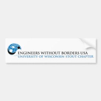 スタウトの章EWB-USAのウィスコンシン大学 バンパーステッカー