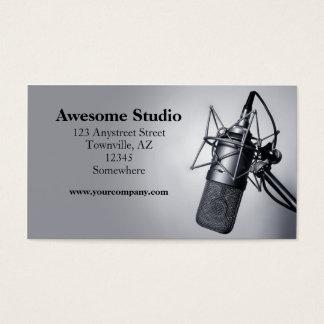 スタジオのマイクロフォン 名刺