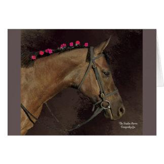 スタジオの馬のデザイン; 空白のな挨拶状 グリーティングカード