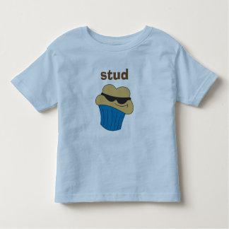 スタッドのマフィンの名前入りな幼児のTシャツ トドラーTシャツ