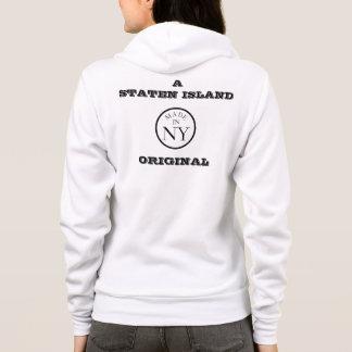スタテン島のオリジナルのジッパーのフード付きスウェットシャツ パーカ