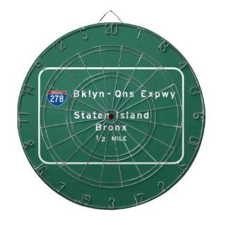 スタテン島ブロンクス州連帯NYCニューヨークシティ ダーツボード