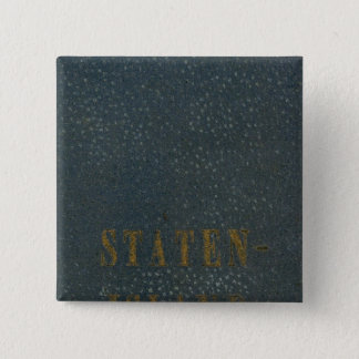 スタテン島 5.1CM 正方形バッジ