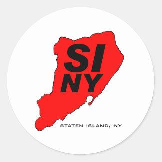 スタテン島SINYの赤 ラウンドシール
