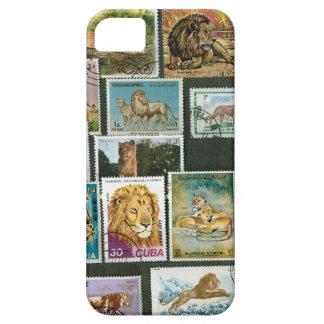 スタンプのライオン iPhone SE/5/5s ケース