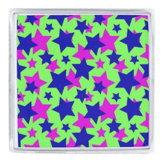 スターの力: 緑の~の青及び紫色パレード シルバー ラペルピン