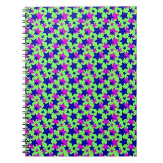 スターの力: 緑の~の青及び紫色パレード ノートブック