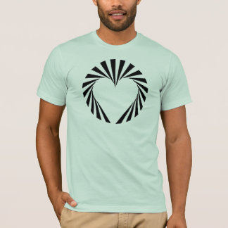 スターバストのハート Tシャツ