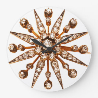 スターバストのヴィンテージのアクセサリーのモダンAcryllic ラージ壁時計