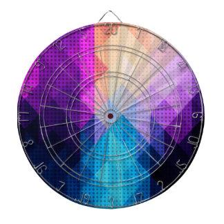 スターバストの紫色及び青のダイヤモンドのデザイン ダーツボード