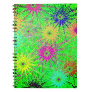 スターバストの螺線形ノート ノートブック
