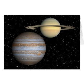 スターフィールド-挨拶状のジュピター土星 カード