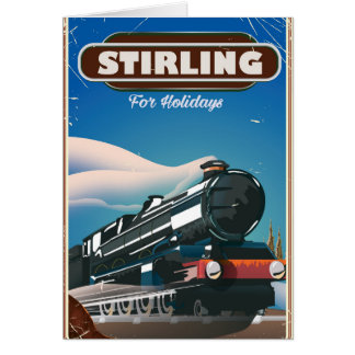スターリングスコットランドのヴィンテージの列車ポスター カード