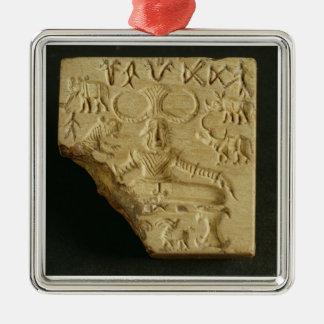 ステアタイトのPasupatiのシール、Mohenjodaro、2300-1750紀元前に メタルオーナメント