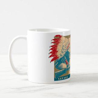 スティーブからの窓のデカール コーヒーマグカップ