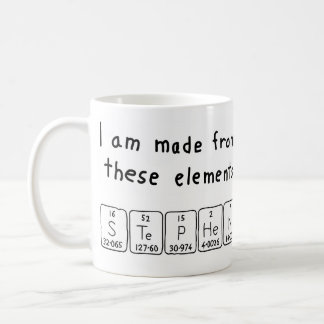 スティーブンの周期表の名前のマグ コーヒーマグカップ