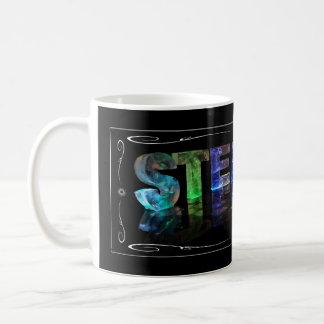 スティーブン- 3Dの一流のスティーブンはつきます(写真) コーヒーマグカップ