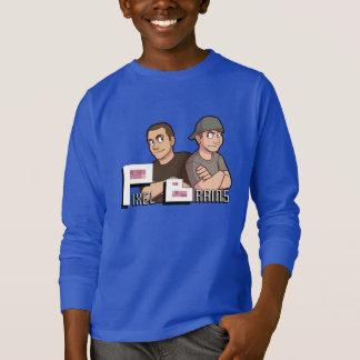 スティーブ及びRONの男の子のスエットシャツ Tシャツ