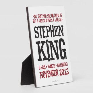 スティーヴン・キングのヨーロッパの旅行 フォトプラーク
