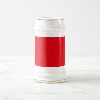 ステインのクラシカルで赤いおよび紫色のマグ ビールジョッキ