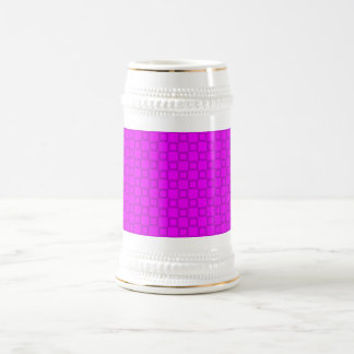 ステインのクラシカルなピンクおよび紫色のマグ ビールジョッキ