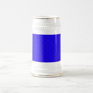 ステインの紫色のマグが付いているクラシカルで鮮やかな青 ビールジョッキ
