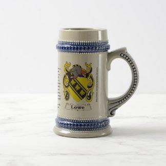 ステインのLowe家族の紋章付き外衣 ビールジョッキ