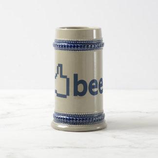 ステインビールはFacebookを好みます ビールジョッキ