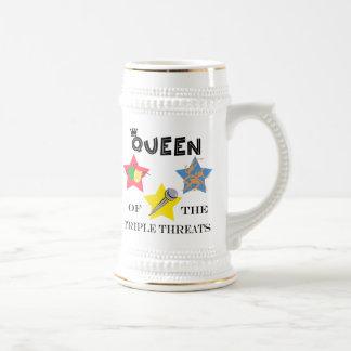 ステイン三重の脅威の女王 ビールジョッキ