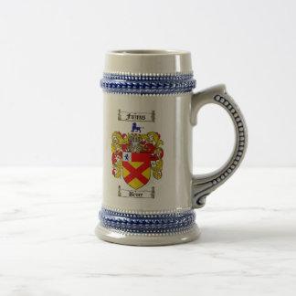 ステイン/ブルースの家紋ブルースの紋章付き外衣 ビールジョッキ