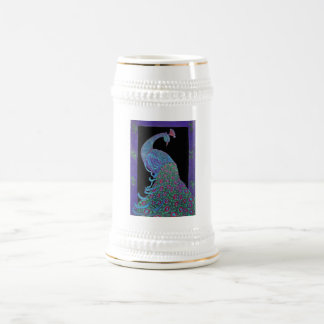 ステイン-マグ-誇りを持ったな孔雀 ビールジョッキ