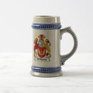 ステイン-家紋ウィリアムスの紋章付き外衣 ビールジョッキ