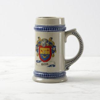 ステイン-家紋Gillisの紋章付き外衣 ビールジョッキ