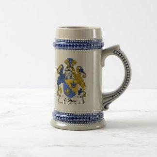 ステイン-家紋Oのシアバターの紋章付き外衣 ビールジョッキ