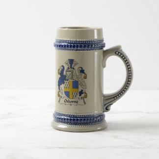 ステイン-家紋Osborneの紋章付き外衣 ビールジョッキ