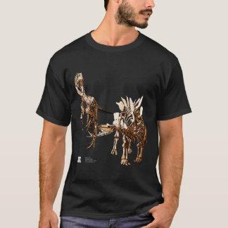 ステゴサウルスおよびアロサウルス Tシャツ