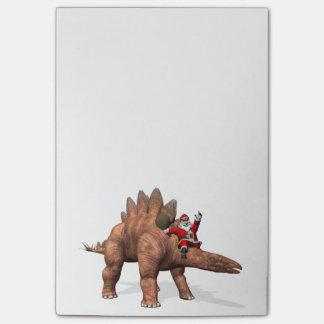 ステゴサウルスのサンタクロースの乗馬 ポストイット