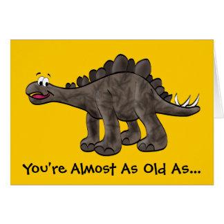 ステゴサウルスのバースデー・カード カード