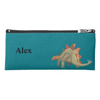 ステゴサウルスの恐竜は学校のための筆箱をからかいます ペンシルケース