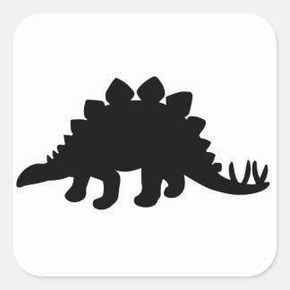 ステゴサウルスの恐竜 スクエアシール