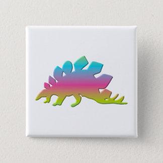 ステゴサウルスの恐竜 5.1CM 正方形バッジ