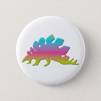 ステゴサウルスの恐竜 5.7CM 丸型バッジ