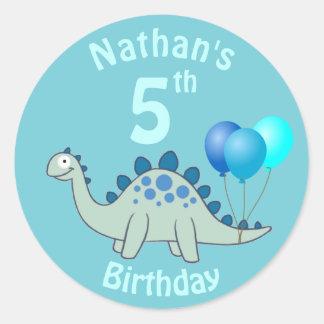 ステゴサウルスの誕生日 ラウンドシール