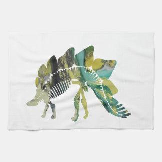 ステゴサウルスの骨組 キッチンタオル