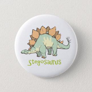 ステゴサウルス 5.7CM 丸型バッジ