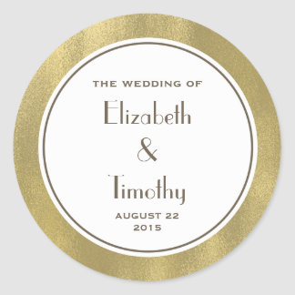 ステッカーのあたりで結婚する金ゴールドホイル ラウンドシール