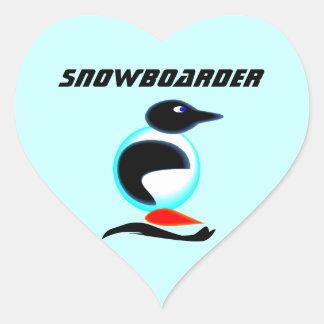 ステッカーのネオンペンギンの鳥のスノーボードのスクラップブック ハートシール