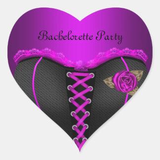 ステッカーのハートのバチェロレッテの紫色のコルセット ハートシール